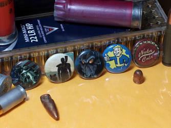 Fallout Pin-On Punk Buttons - Set of 5 by MrCadavero