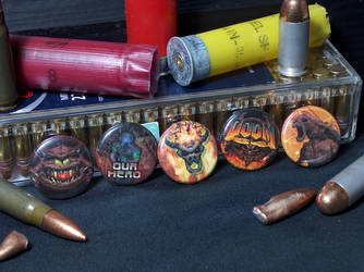 Doom 64 Pin-On Punk Buttons - Set of 5 by MrCadavero