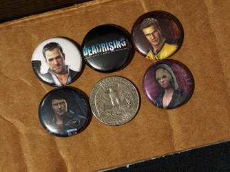 Dead Rising Pin-On Punk Buttons - Set of 5 by MrCadavero