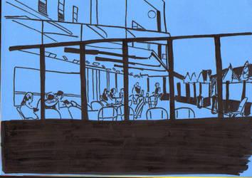 cafe place de la bastille by EmmanuelleLescouet