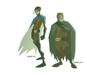 Gatchaman's Jason and Tiny by cheeks-74