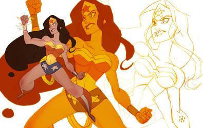 Wonder Woman's new tattoo by cheeks-74