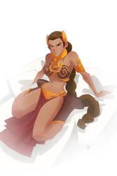 Princess Leia colored by cheeks-74