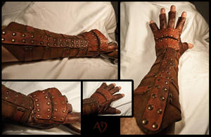 Rawhide Gauntlets by Adhras