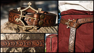 Tooled Renaissance Belt by Adhras