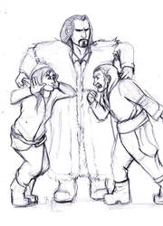 Thorin and his nephews by CoffeeTeaButtercream