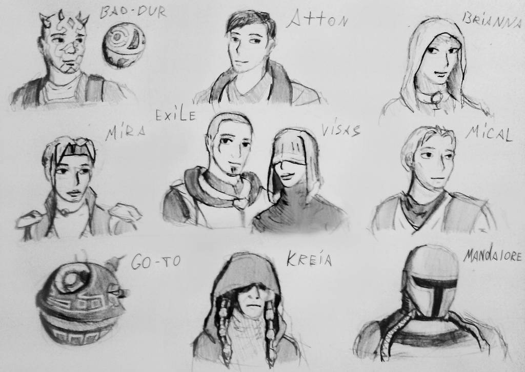 Kotor 2 Characters By Spacemaxmarine On Deviantart