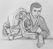 Tali x Shepard (87) by spaceMAXmarine
