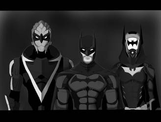 Bat family by spaceMAXmarine
