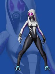 Tali - Spider-Gwen by spaceMAXmarine