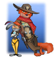 Judy Oxton and Nick Mccree by spaceMAXmarine