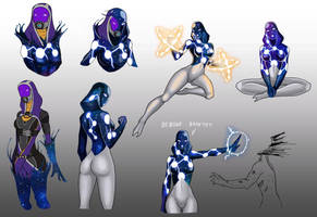 Tali - Universe doodles by spaceMAXmarine