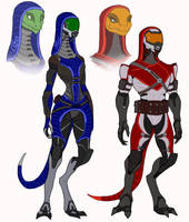 Lizards quarians by spaceMAXmarine