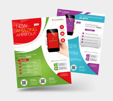 Mobile Apps Promotion Flyers by satgur
