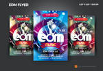 Edm party flyer by satgur