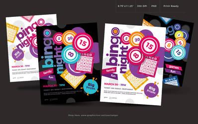 Bingo Night flyer Template by satgur