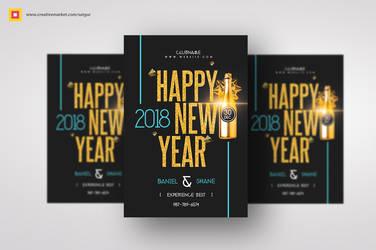 Minimal New Year Flyer by satgur