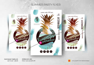 Summer Party Flyer by satgur