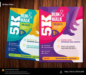 5K Run Flyer /  Marathon Flyer by satgur