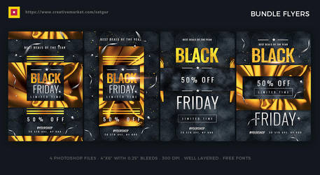 Black Friday Sales Flyers Bundle by satgur