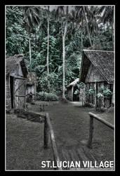 St. Lucian Village by Grishend