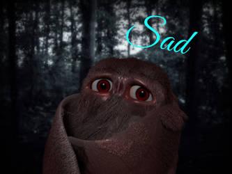 Sad mothman by CoolioArt