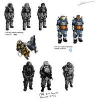 EVA suit concepts by Csp499