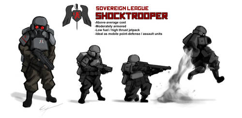 Cortex Command - League Shocktrooper by Csp499