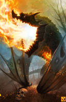 Lesser Flamewrack by NicholasKay