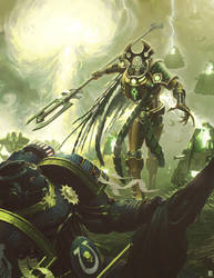 Necron Overlord by NicholasKay