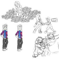 Undertale Sketches by Ashura01