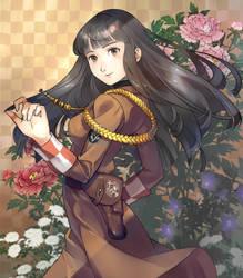 Dark hair girl by y-asa