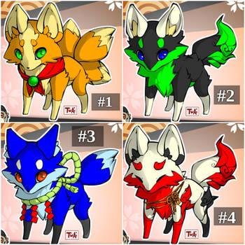 Fox Adoptables ~Closed! :( ~ (READ DESCRIPTION) by LightWolf65