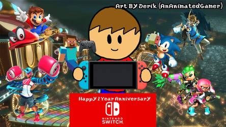 Happy 1 Year Anniversary Nintendo Switch by AnAnimatedGamer