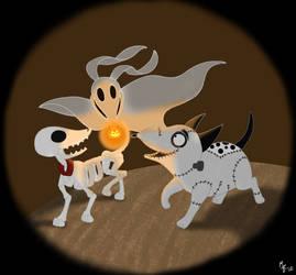 Tim Burton's Dogs by ToonSkribblez
