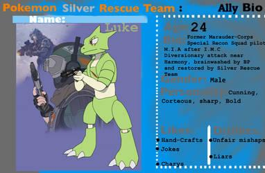 Pokemon Silver Rescue Team BIO - Luke by Xrayleader