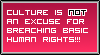 One's Culture Is Not An Excuse For Bad Behaviour! by TheArtFrog
