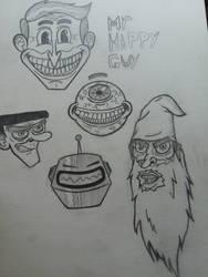 pencil drawings by Sleepycartoonist28