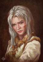 Ciri's portrait, another variation of the face by MiryAnne