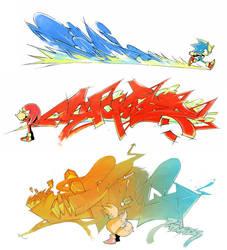 Sonic Heroes team by sujinee
