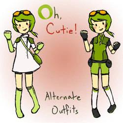 Otacute Mascot: Alt. Outfits by areautena