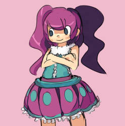 purple girl by theasyname
