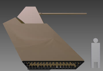 RMX-54 Mk. I Size by wheeled-tank