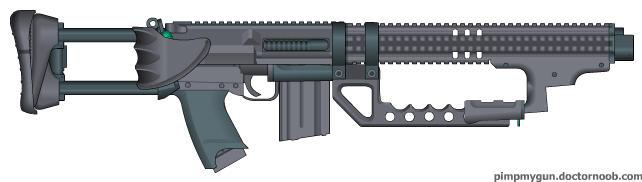 Assault Sub-Machine Gun Model 2027 (ASMG-27) by wheeled-tank