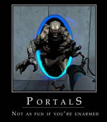 portal demotivator by lewyrus