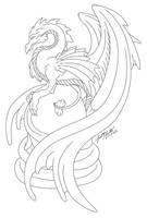 Dragon's Egg :Line Art: by PulseDragon