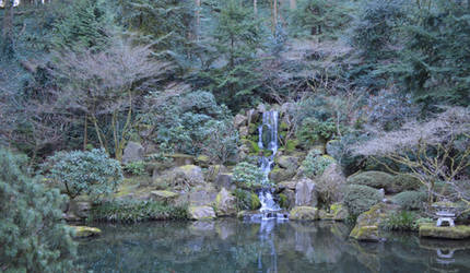 Japanese Waterfall by linqk57
