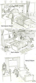 Harry Potter: Bedrooms by Catching-Smoke