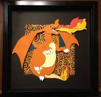 Papercutting : Charizard by Zayger