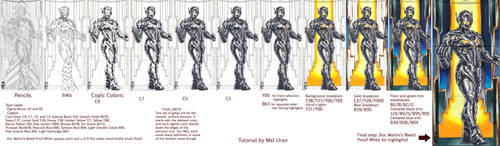 Ultron +Copic+ metal surface tutorial by MelUran